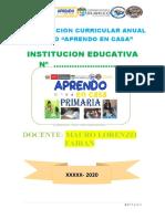 PROPUESTA DE PLAN ANUAL TRABAJO REMOTO 2020.