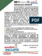 COMUNICADO SEMAFORO ESCUELA 2020 (1) (1)