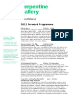 Forward Programme Draft release 19.01.2011 RF edit