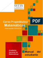 Curso Propedéutico Matemáticas 2018 Estudiante
