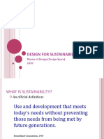 Design for Sustainability 2019
