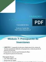 Finanzas I 7 - Presupuesto de Inversiones.pdf