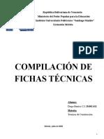 Fichas Técnicas Diego Berríos C.I 28.002.412 (Técnicas de Construcción)