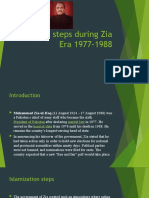 Islamic steps during Zia Era 1977-1988