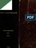 tranformer oil sampling methods
