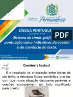 Sistema de sinais gráficos de pontuação como indicativos da coesão e da coerência do texto.ppt