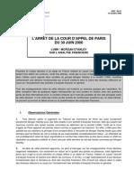 06-47 Analyse Financière -Arrêt Morgan Stanley c LVMH