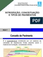 Aula1- Introdução conceituação e tipos de pavimentos