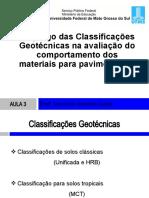Aula3-CLASSIFICAÇÕES GEOTÉCNICAS APLICADAS EM PAVIMENTAÇÃO