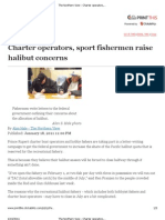 The Northern View - Charter Operators, Sport Fishermen Raise Halibut Concerns