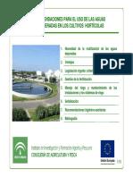 Recomendacion uso aguas regeneradas