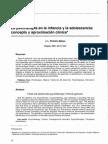 La psicoterapia en la infancia y la adolescencia, concepto y aproximación clínica