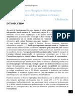 Déficit en Glucose-6-Phosphate déshydrogénase