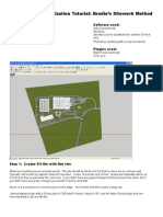 SU Displacement Terrain for ArchViz