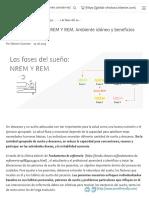 Las fases del sueño_ NREM Y REM. Ambiente idóneo y beneficios para la salud