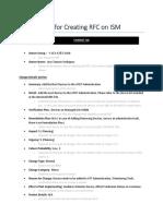 Cheat Sheet Crear RFC en ISM v1.2