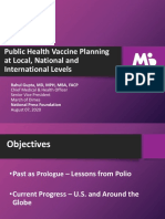 Public Health Vaccine Planning at Local, National and International Levels