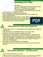 Instruction for test and assignment .pptx