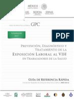 Prevención, diagnóstico y tratamiento de la exposición laboral al VIH en trabajadores de la salud RR 2017