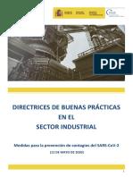 Directrices de buenas prácticas en la Industria 26.04.20
