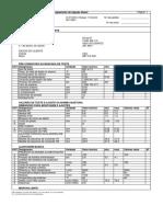 tabela regulagem bomba 0
