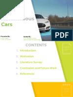Autonomous Cars PPT - Review 1