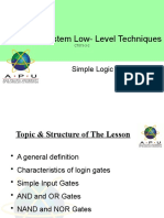 APU CSLLT -4 - Logic gates