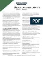 Actualización DESPERTAR PSÍQUICO - LA SAGA DE LA BESTIA