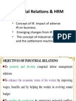 Industrial Relations &  HRM