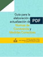 2. Guía para la elaboración de las Normas de Convivencia y medidas correctivas