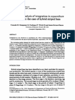 A financial analysis of integration in aquaculture- hybrid striped bass
