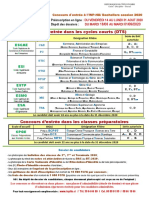 Fiche Information BAC 2020