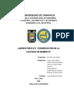 Informe laboratorio conservación de la cantidad de movimiento Gr I (1)