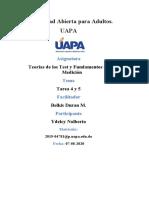 Teorías de los Test y Fundamentos de Medición Tarea 4 y 5