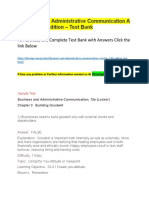 Business and Administrative Communication a Locker 12th Edition – Test Bank