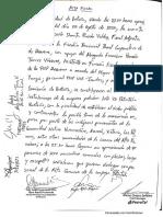Acta fiscal del enfrentamiento en el campamento de Petrotal, en el lote 95, Loreto