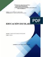 EDUCACIÓN ESCOLARIZADA FRENTE A LA EDUCACIÓN EN SENTIDO AMPLIO