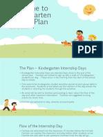 welcome to kindergarten project plan en