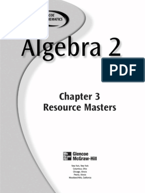 Ch_3_resource_master.pdf | Equations | Educational Assessment