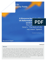 A discourse analysis of the UK referendum