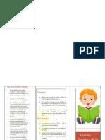 folleto lectoescritura