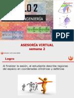 Asesoría virtual semana 2 CE85  2020 2A calculo