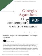 """Resenha_ """"O que é o Contemporâneo_"""", de Giorgio Agamben _ by K _ Revista Subjetiva _ Medium.pdf"""