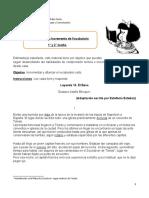 Guía incremento de vocabulario  III     1 y 2  MEDIO
