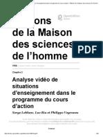 ViSA - Analyse vidéo de situations d'enseignement