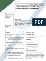NBR 12938 - 1993 - Ácido Fosfórico para Uso Industrial - Determinação de Metais Pesados.pdf