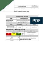 Formato de Indicadores de Gestion Logistica