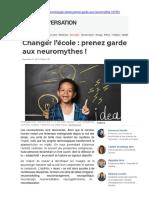 Changer l'école, prenez garde aux neuromythes (E. Sander et al.)