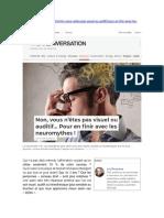 Non, vous n'êtes pas visuel ou auditif (The Conversation, 16-06-2020)