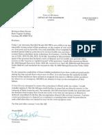 Whitmer veto letter